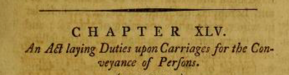 Carriage Act of 1794 – Statutes and Stories